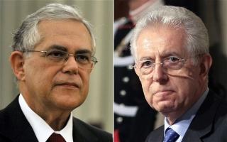 Dos miembros de la Trilateral al mando de Italia y Grecia