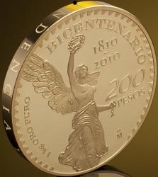 Banco de México acuña moneda de oro de un kilo
