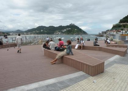Mirador en la Playa de la Concha de San Sebastián