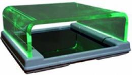 Podogoscopio metacrilato con luz verde