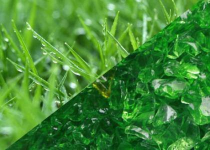 green terrazzo