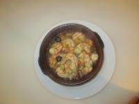 King prawns with garlic