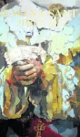 JEREZ DE LA FRONTERA: un gran cuadro con las manos de La Soledad, cartel de la Semana Santa