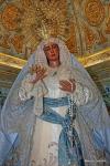 SEVILLA: la Virgen de las Angustias vestida para la fiesta de la Inmaculada Concepción