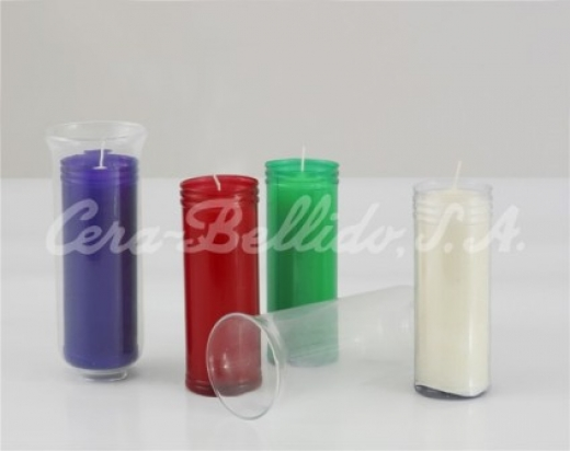 Vaso de cristal para lámparas del Santísimo