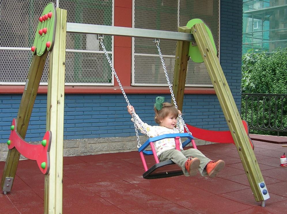 Columpio con asiento cuna de seguridad para bebes parques - Columpios de exterior ...