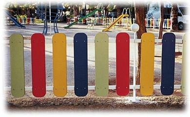 Valla para parques infantiles arcoiris AUNOR