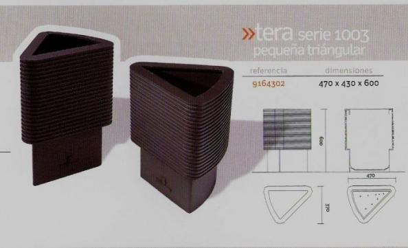 Jardinera Tera serie 1003 pequeña triangular
