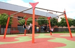 Columpio multiple 5 plazas para parques infantiles
