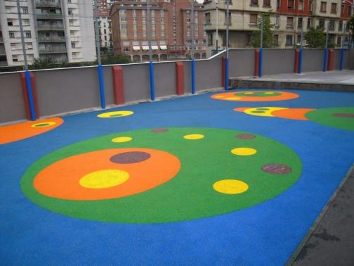pavimento amortiguador continuo in situ