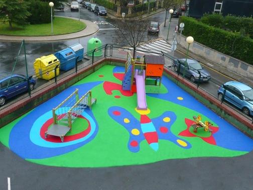 Suelo de caucho para parques infantiles