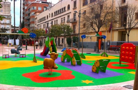 pavimento amortiguador de caucho para parques infantiles