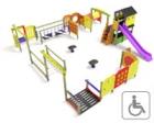 Columpios adaptados para niños con discapacidad