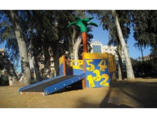 Parque infantil adaptado para niños con discapacidad la isla pequeña