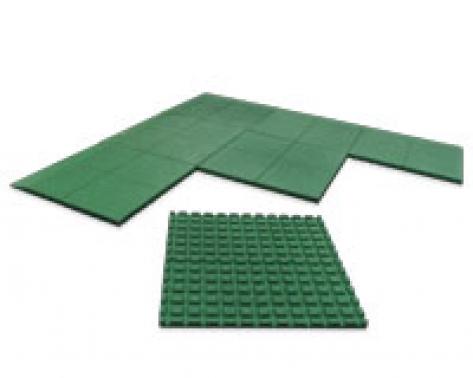 baldosas de caucho reciclado verde