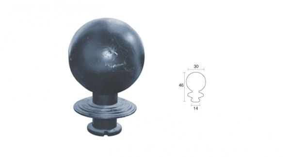 Pilona bola con base