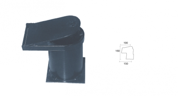 Base pilona extraible con llave