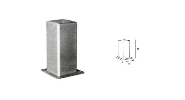 Pilona galvanizada