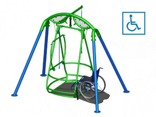 Columpios adaptados para sillas de ruedas