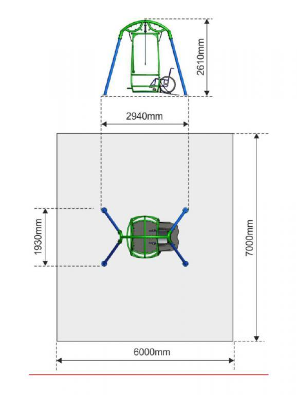 Baño Adaptado Silla De Ruedas:Columpios adaptados para sillas de ruedas – Aunor