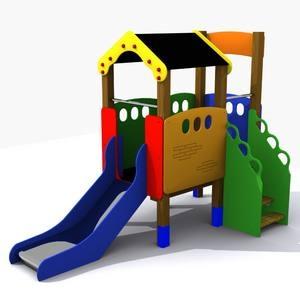 Casita para parques infantiles elevada