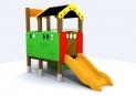 Casita con tobogan para niños