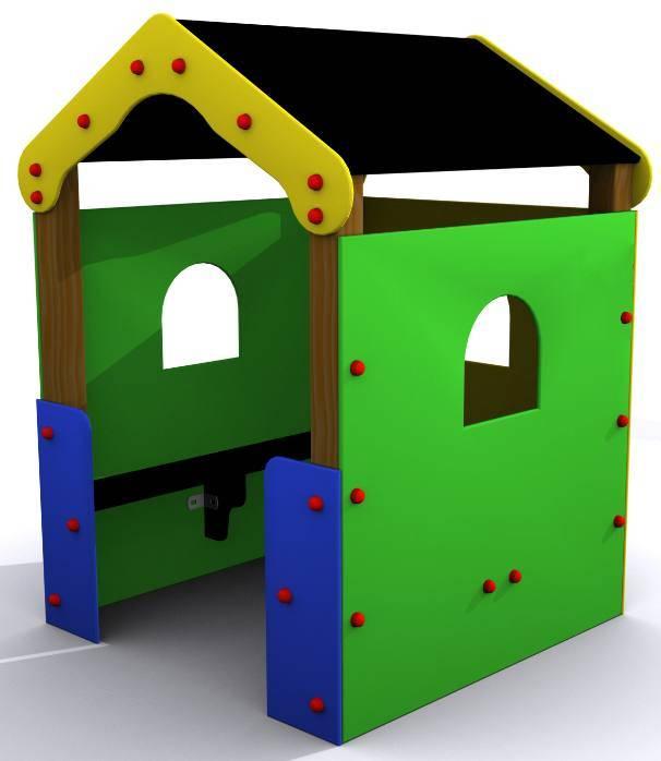 Casita infantil columpios parques infantiles pavimento for Casita exterior infantil
