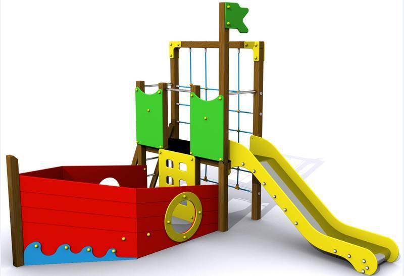 barco para parques infantiles ampliar imagen
