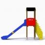 Torre con tobogán para niños