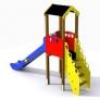 Torre con tobogán para parques infantiles