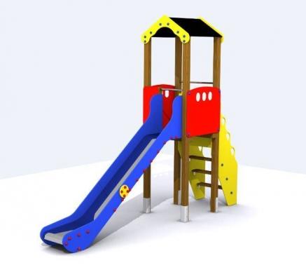 Torre con tobogán para parques