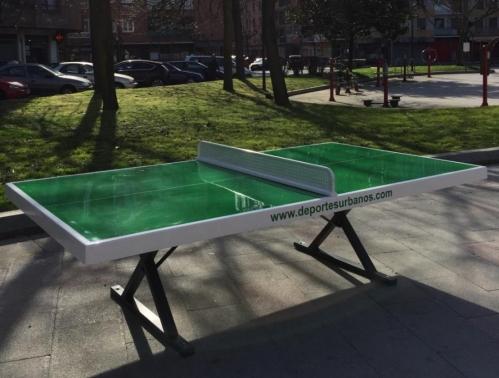 Mesa de ping pong de exterior antivandalica para tennis for Mesa de ping pong exterior
