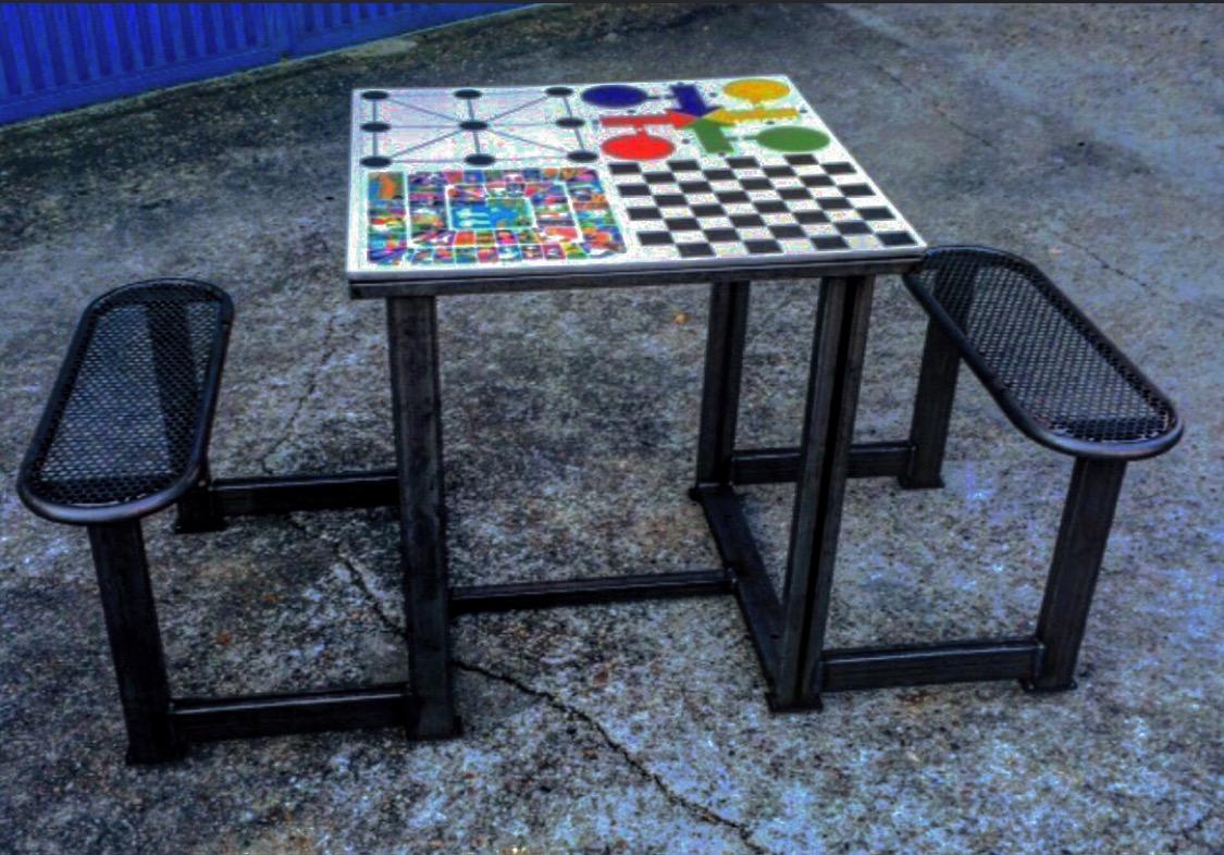 Mesa de ajedrez exterior antivandalica