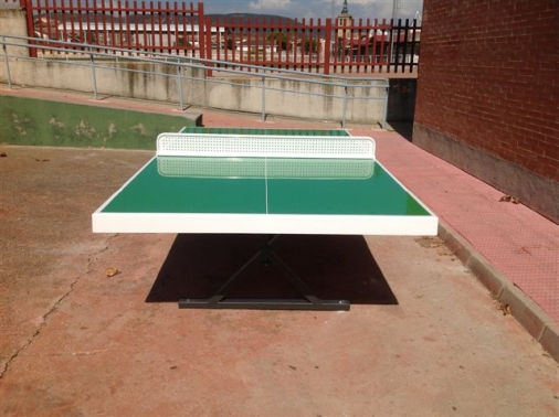 Mesa de ping pong exterior antivandalica para tennis mesa - Mesa ping pong ...