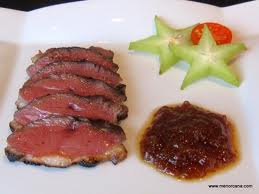 Duck maigret with fig jam