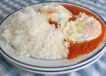 arroz blanco con tomate