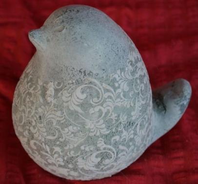 Pajaro azul ceramica