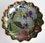 Plato colores mariposas