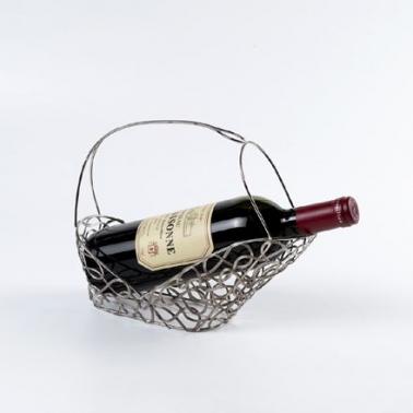 Cesto vino entrelazado