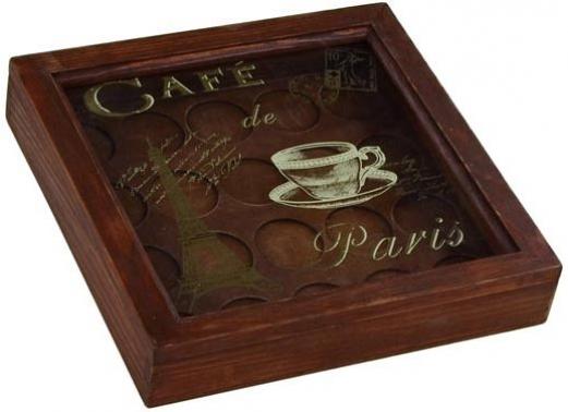 CAJA PORTA CAPSULAS CAFE