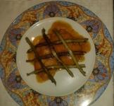 Merluza con salsa de azafrán