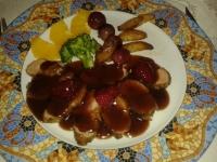 Solomillo ibérico con salsa de fruros del bosque