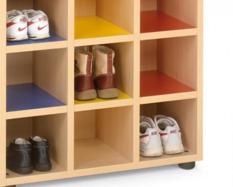 Zapatero escolar mobiliario para colegios mobiliario for Zapatero color haya