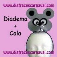 Diadema Raton Fieltro gris