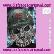 mascara soldado calavera zombie