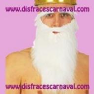 barba blanca con cejas