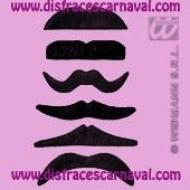 bigote negro postizo