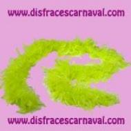 Boa plumas Monocolor eco 45gr Amarillo Fluor
