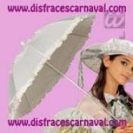 sombrilla blanca