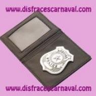 cartera de policia con placa
